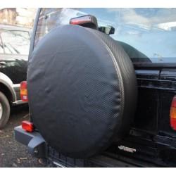 CARBON ČERNÁ ryt rezervního kola Náhradní kryt pneumatik Kryt pneumatik