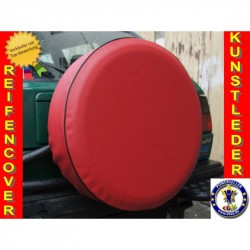 Červená ryt rezervního kola Náhradní kryt pneumatik Kryt pneumatik