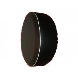 Černá s bílým okrajem ryt rezervního kola Náhradní kryt pneumatik Kryt pneumatik