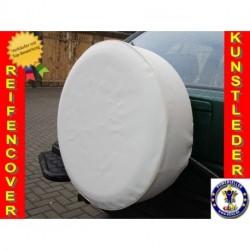 Bílá kryt rezervního kola Náhradní kryt pneumatik Kryt pneumatik