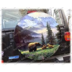 Motive Bären Reserveradabdeckung Reserveradhülle Reifencover