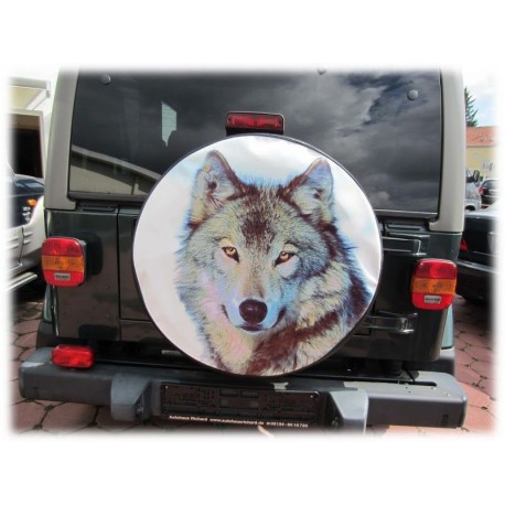 Themes Wolf Spare Wheel Cover
