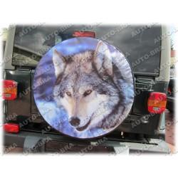 Тема Волк чехол запасного колеса