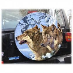 Temas Lobo Cubierta de rueda de repuesto