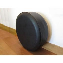 NEGRO Cubierta de rueda de repuesto